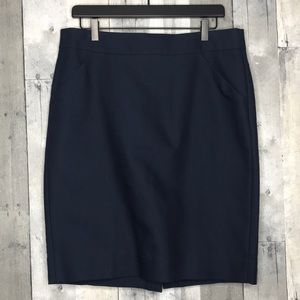 J. Crew The Pencil Skirt Navy Sz 12